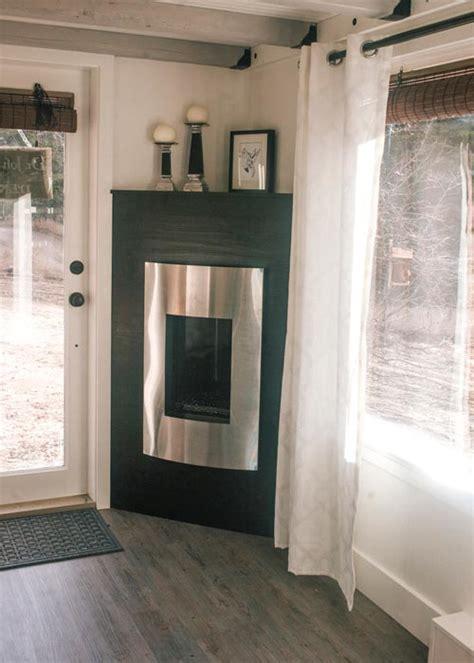 esket tiny house propane corner fireplace esket tiny house tiny living