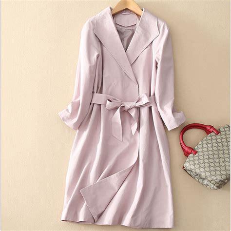 Coat Baby Pink pink trench coat wardrobe mag