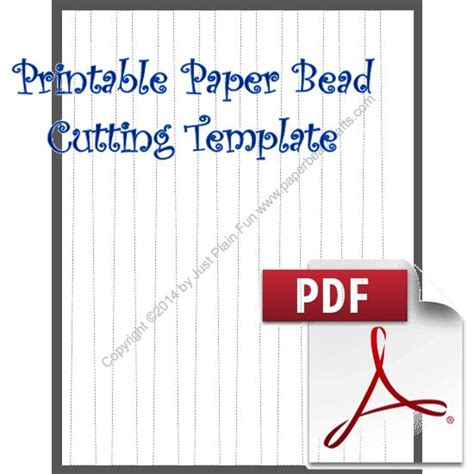 bead templates paper bead crafts library