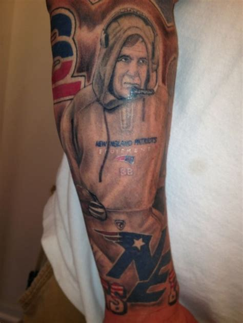 new england patriots tattoo patriots fan has rob gronkowski bill belichick