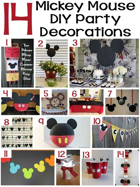 Mickey Mouse Decorations Diy by Diy Mickey Mouse Clubhouse Birthday Theme Diy Projects