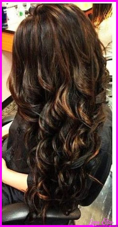 black hair with colored highlights black hair caramel highlights livesstar