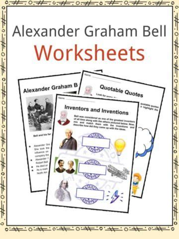 primary facts alexander graham bell famous inventors through time worksheets resources for kids