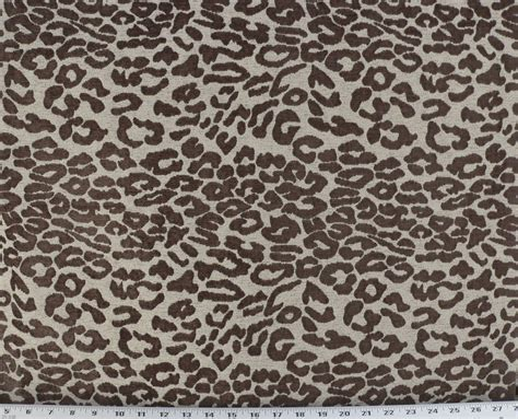 drapery upholstery fabric chenille animal print abstract