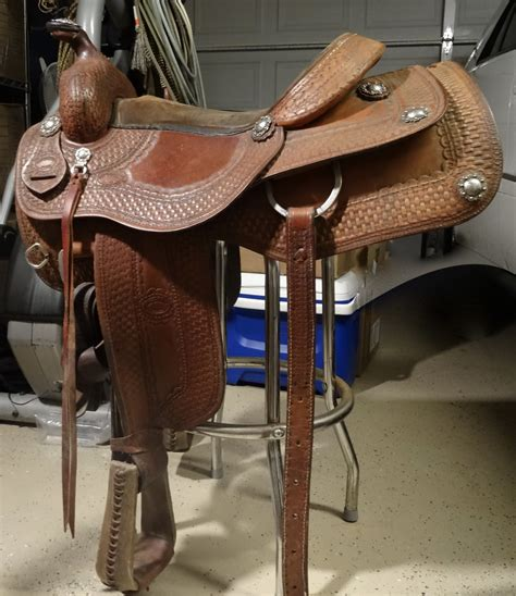 Handmade Ranch Saddles - custom ranch saddle by don mcguire 15 5