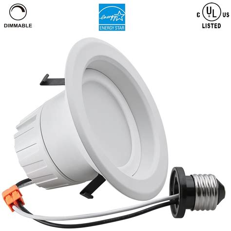 Led Can Light Fixtures Retrofit Can Led Recessed Light E26 Dimmable Bulb Downlight Fixture Kit 4 Inch 6 Inch Buy Can