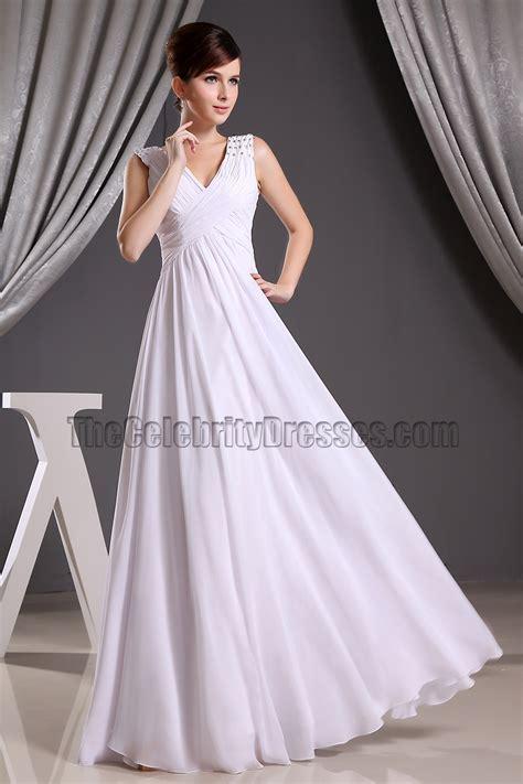 30708 White Informal V Neck Dress Dress Casual Mini Putih ruching sweetheart beading floor length white chiffon