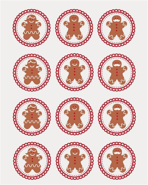 printable gingerbread man gift tags free gingerbread men cupcake topper printable