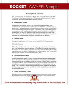 Credit Agreement Template revolving credit agreement revolving line of credit form