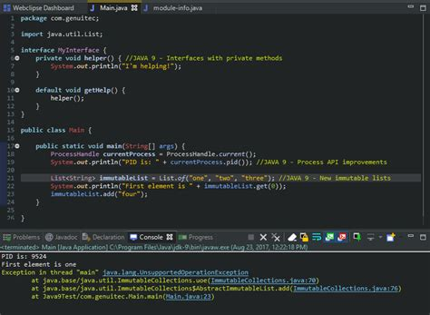 theme eclipse java working with java 9 in eclipse genuitec