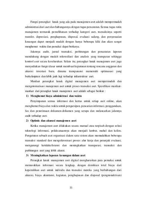 Analisis Investasi Dan Aplikasi Dlm Aset Keuangan Aset Riil makalah manajemen aset pengaruh teknologi informasi