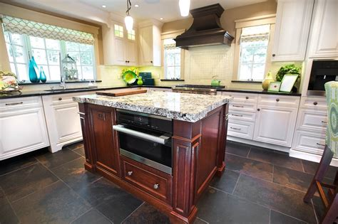 Granite Countertops Island New York by New York Slate Blue Kitchen Traditional With Thick Granite Counter Islands And Carts Pendant Lights