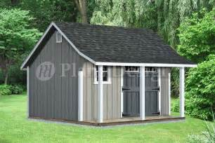 Shed With Porch Plans Free by 14 X 12 Backyard Storage Shed With Porch Plans P81412