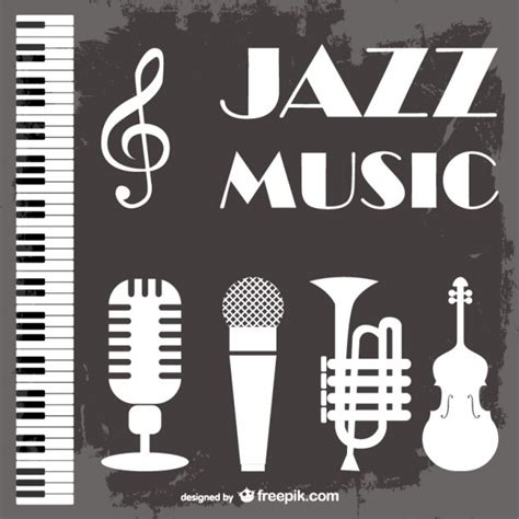jazz music vector background vector free download