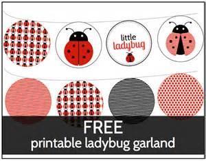 printable ladybug decorations shower that baby