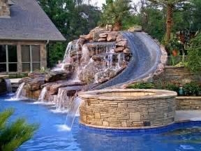 Amazing Backyard Amazing Pool And Waterfalls Backyard Paradise Pinterest