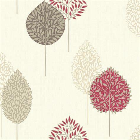 arthouse dante motif wallpaper red decorating diy