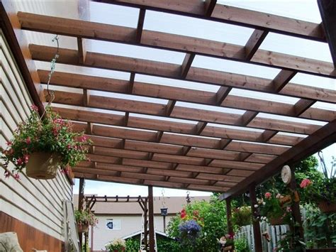 backyard balcony ideas pergola roofing materials the design of the pergola is