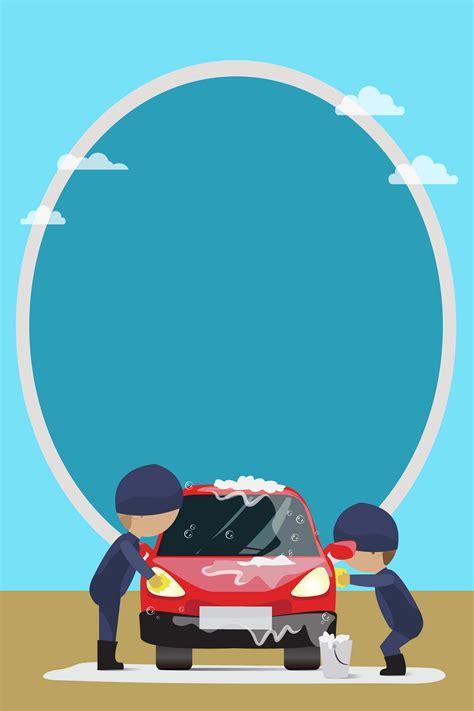 vector flat flat car wash beauty posters simple