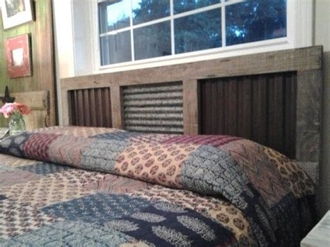 Corrugated Tin Headboard by 1000 Ideas About Rustic Headboards On Headboards Reclaimed Headboard And Wood
