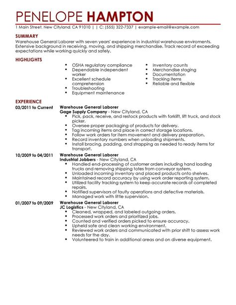 resume objective exles for general labor resume objective exles for general labor svoboda2