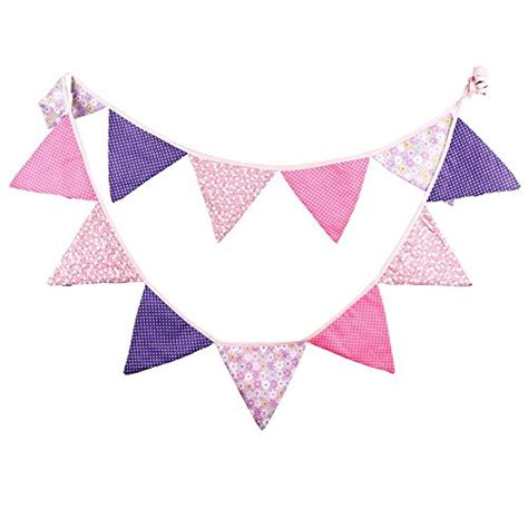 Flag Banner Anniversary Pink Dan Blue kinglake 174 10 fabric triangle flag sided pennant flag banner for wedding birthday