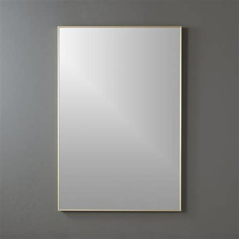 Brass Home Decor by Infinity Brass 24 Quot X36 Quot Rectangular Wall Mirror Cb2