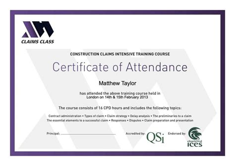 certificate design html certificate of attendance template free template