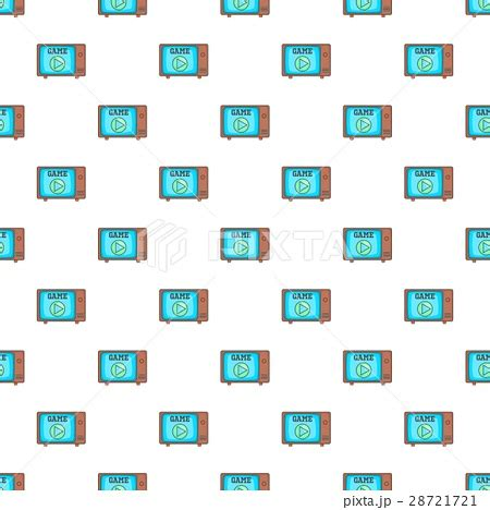 Video Player Pattern | video player on the screen of retro tv patternのイラスト素材