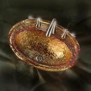 jsg oceana gold reflections drop in glass sink drop in