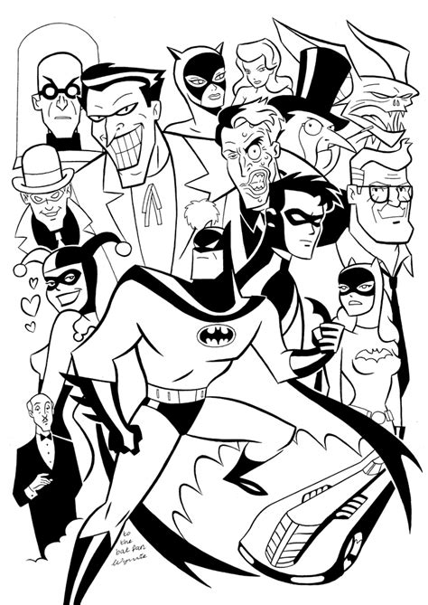 batman animated coloring pages batman the animated series coloring pages