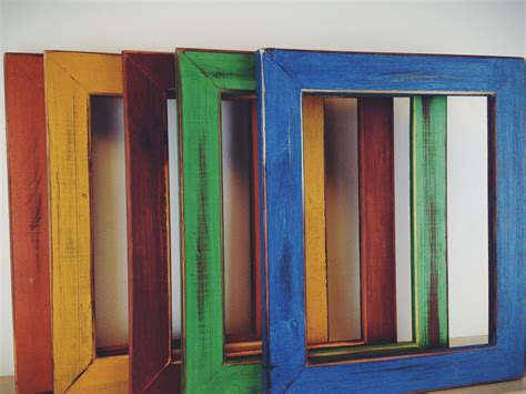 colorful picture frames made colorful painted picture frames milk