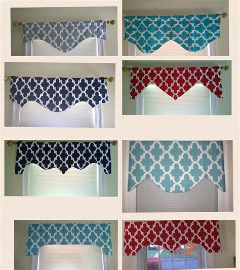 Scalloped Valances For Windows Decor Turquoise Valance Window Valance Scalloped Valance