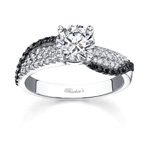 14kt white gold barkev s engagement ring with 0 34