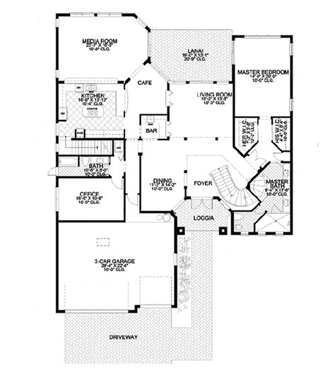 santa fe floor plans catalina canyon santa fe home plan 106s 0085 house plans