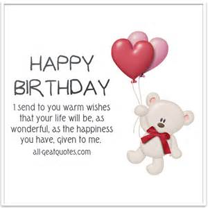 happy birthday i send to you warm wishes birthday cards