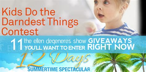 The Ellen Show Giveaways - 11 the ellen degeneres show giveaways you ll want to enter right now