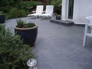 terrasse terrasse schiefer treppen granitborde zufahrt granit