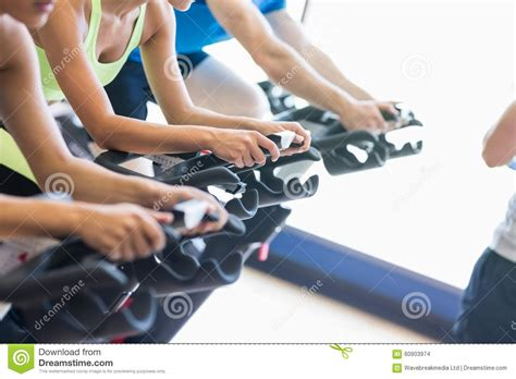 Spinning Bike Sport Id 9 2n fit in a spin class stock photo image 60903974
