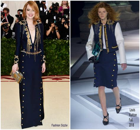 emma stone vuitton emma stone in louis vuitton 2018 met gala fashionsizzle