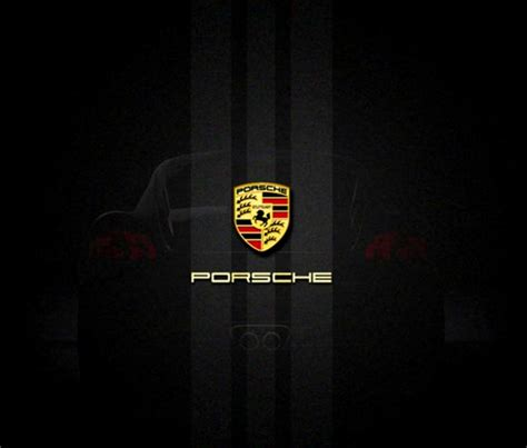porsche logo wallpaper porsche logo black background imgkid com the image