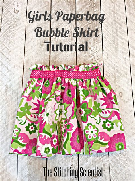 toddler paper bag skirt pattern girls paperbag bubble skirt the stitching scientist