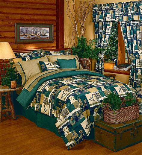 Cabin Themed Bedding by Dogs Ducks Comforter Set Lodge Bedding Cabin
