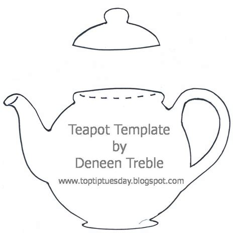 free printable teapot templates teapot template by deneen treble printables pinterest