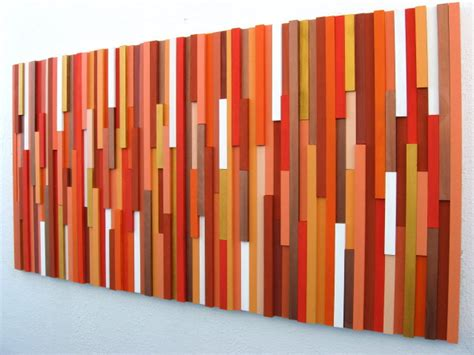 orange wall decor orange wall wood wall wood sculpture modern decor