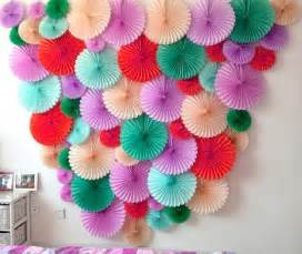 Paper Craft Decoration Ideas - 4pc 10inch 25cm tissue paper fan honeycomb fan decoration