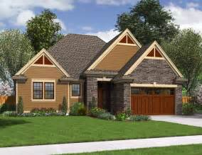 Cottage House Plans With Garage by Cottage Plans Brown Wooden Garage Stone Wall Small Garden