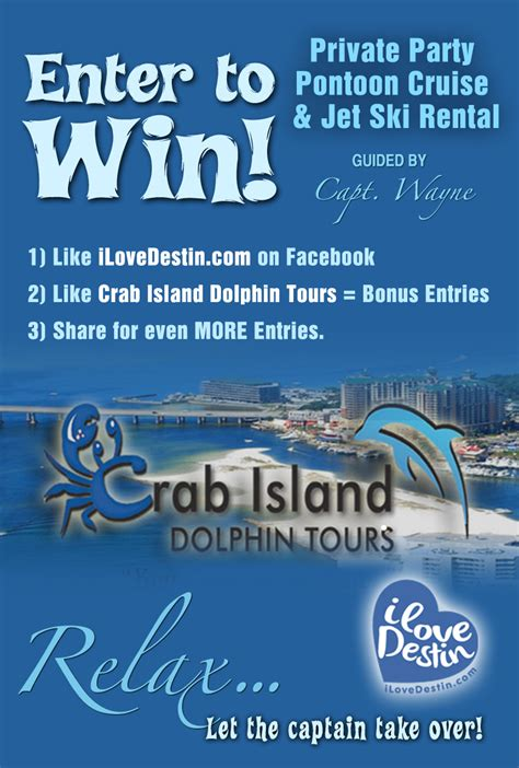 Free Boat Giveaway - ilovedestin s august 2015 monthly giveaway free boat rental i love destin