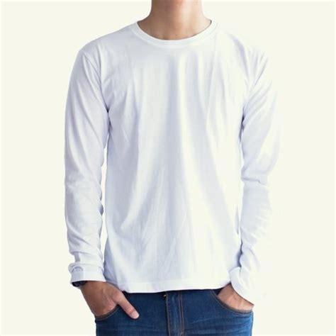 Kaos Polos Warna Biru 100 Serat Kapas jual kaos polos lengan panjang ukuran l warna putih di lapak storindo storindo