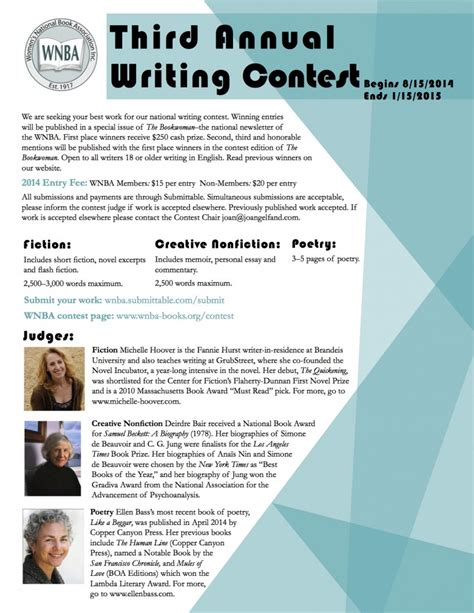 Cleanedison Annual Essay Contest by Wnba Third Annual Writing Contest Ends 1 15 2014